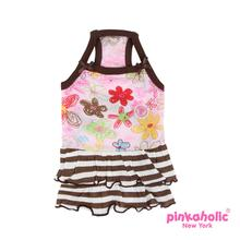 Picnic Dog Dress by Pinkaholic - Brown