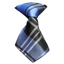 Plaid Dog Neck Tie - Blue