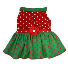 Polka Dot Corduroy Dog Dress