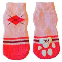 Preppy Girl PAWks Dog Socks - Pink