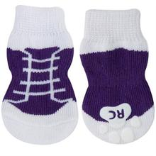 Purple Sneakers PAWKS Dog Socks
