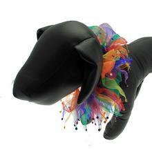 Rainbow Pride Rhinestone Dog Scrunchy