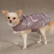 Rainy Day Dog Rain Jacket - Pink Gingham