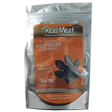 Real Meat Air Dried Wild Boar Liver Slices Dog Treats