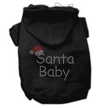 Santa Baby Dog Hoodie - Black