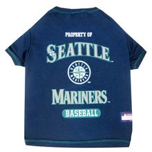 Seattle Mariners Dog T-Shirt - Navy Blue