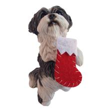 Shih Tzu Sitting Pretty Christmas Ornament - Gray
