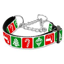Timeless Christmas Nylon Martingale Dog Collar