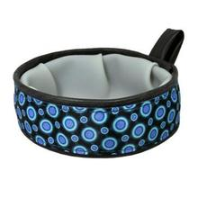 Trail Buddy Portable Dog Bowl by Cycle Dog - Blue Space Dots