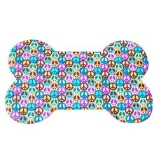 Transparent Peace Sign Dog Bowl Placemat