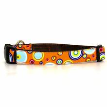 WaLk-e-Woo Martini Dog Collar - Orange