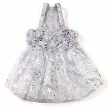 Zack and Zoey Shimmer Nights Whitney Dog Dress - Silver