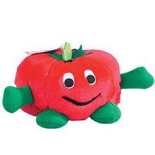 Zanies Giggling Veggie Dog Toy - Tomato