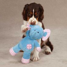 Zanies Gingham Tot Dog Toy - Elephant