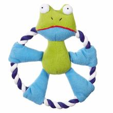 Zanies Rattling Rascal Dog Toy - Frog