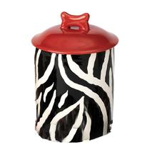 Zebra Buzz Dog Treat Jar