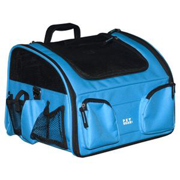 3-in-1 Convertible Pet Carrier/Bike Basket/Car Seat - Ocean Blue