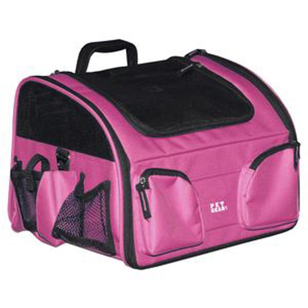 3-in-1 Convertible Pet Carrier/Bike Basket/Car Seat - Pink