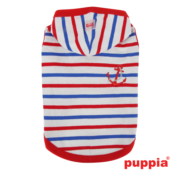 Admiral Hooded Dog T-Shirt by Puppia - Red