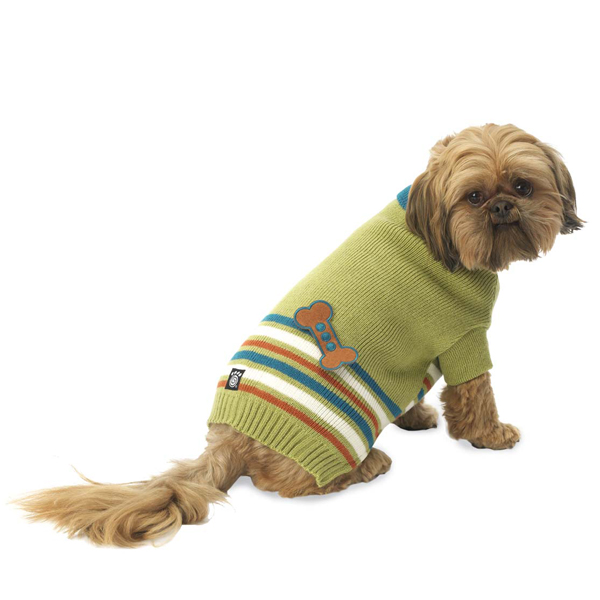 AJ's Applique Dog Sweater - Green