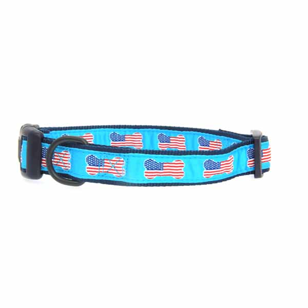 All American Pup Dog Collar - Blue
