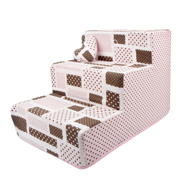 Almee Dog Stairs by Pinkaholic - Pink