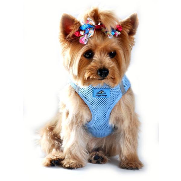 American River Ultra Choke-Free Mesh Dog Harness - Light Blue