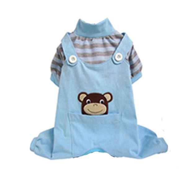 Animal Overalls Dog Pajamas - Monkey