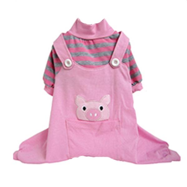 Animal Overalls Dog Pajamas - Pig