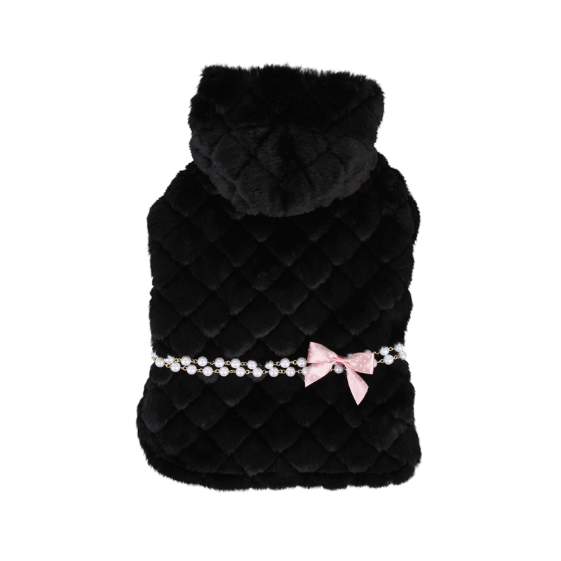 Arctic Cape Dog Coat by Pinkaholic - Black