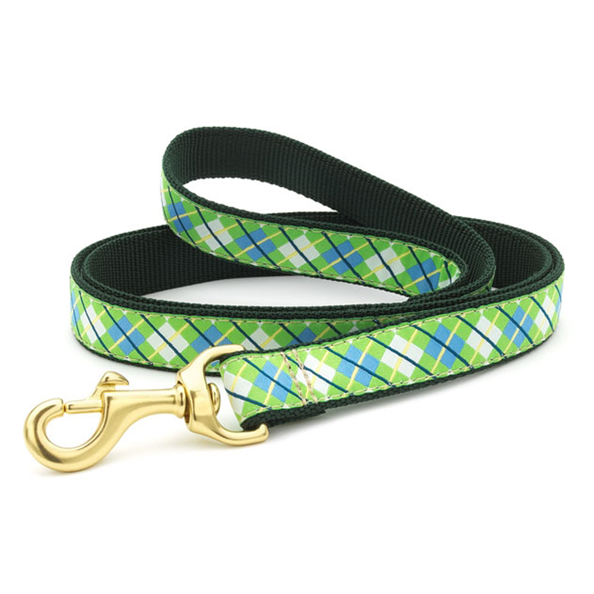 Argyle Dog Leash by Up Country - Blue & Green