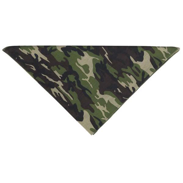 Aria Camouflage Dog Bandana - Green