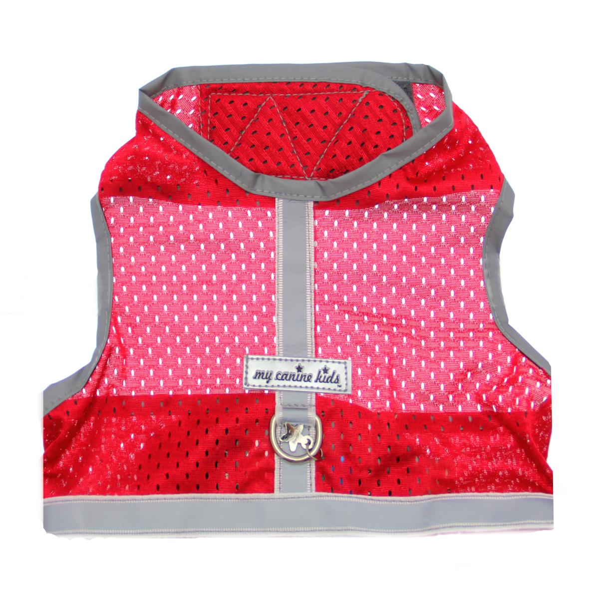 Athletic Mesh Dog Vest Harness - Red