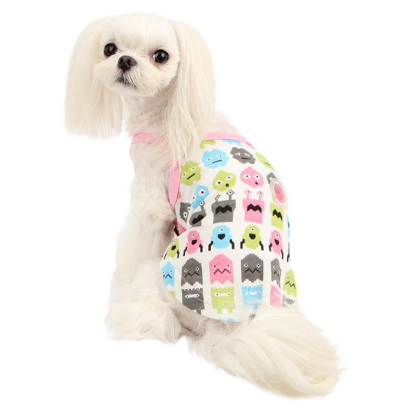 Baby Robot Dog Shirt by Puppia - Pink