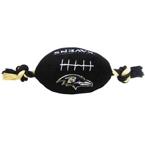 Baltimore Ravens Plush Football Dog Toy