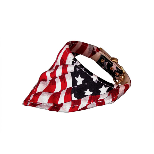 Bandana Dog Collar - American Flag