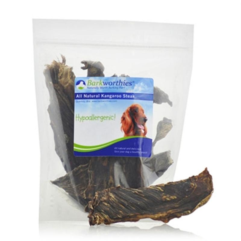 Barkworthies Natural Kangaroo Steak Dog Treat