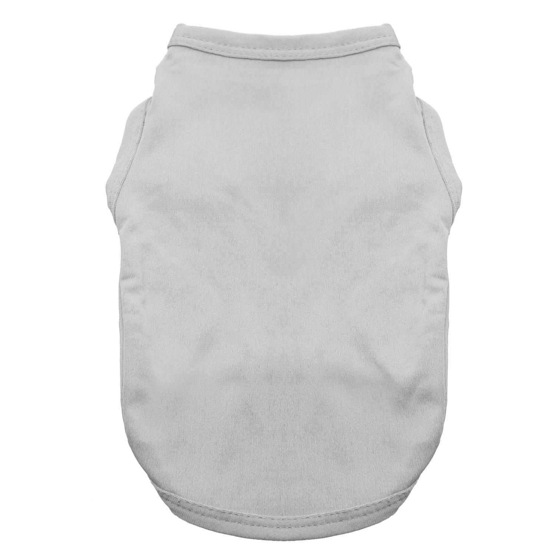 Basic Tank Dog Shirt - Glacier Gray