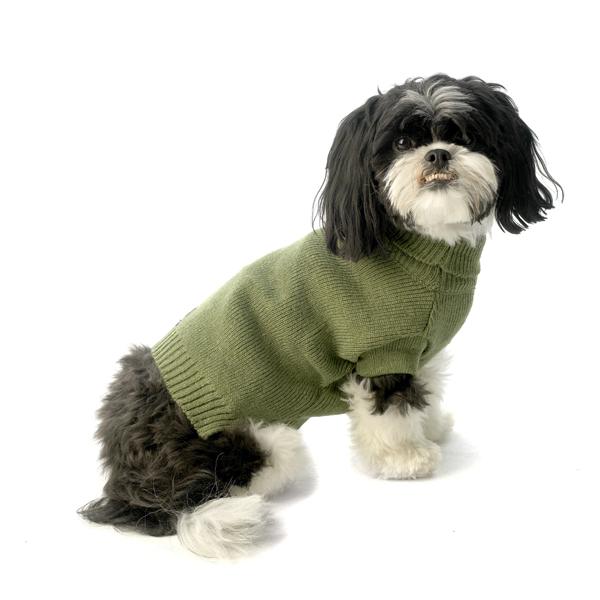 Baxter's Basic Dog Sweater - Sage Green