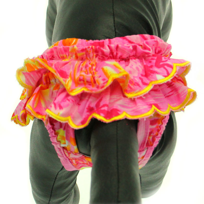 Beach Girl Dog Sanitary Pants by Puppe Love - Pink