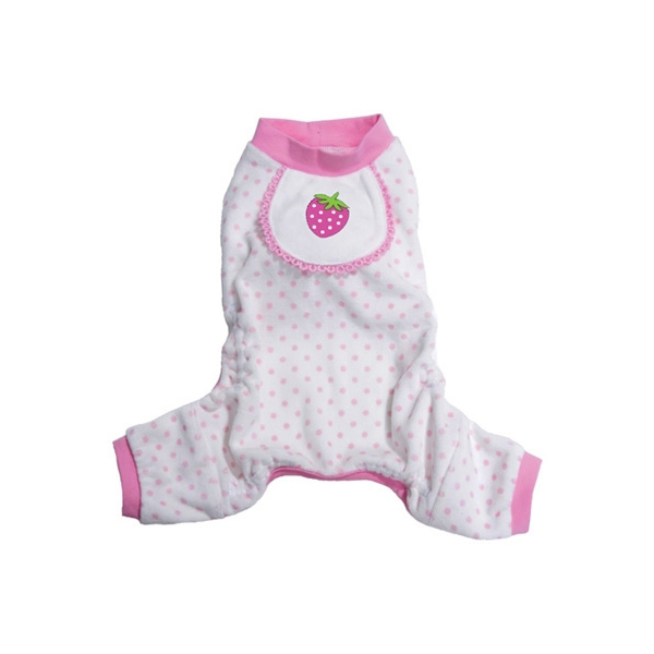 Berry Design Dog Pajamas - Pink