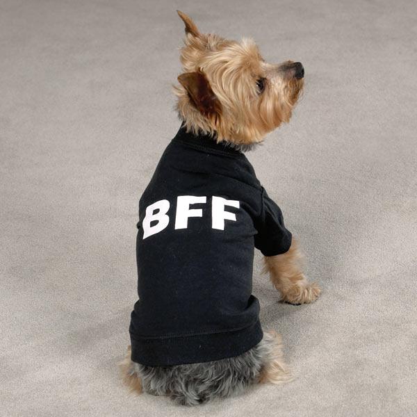 BFF Best Friends Forever Dog T-Shirt - Black
