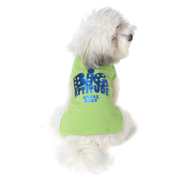 Big Attitude Small Body Dog T-Shirt - Lime