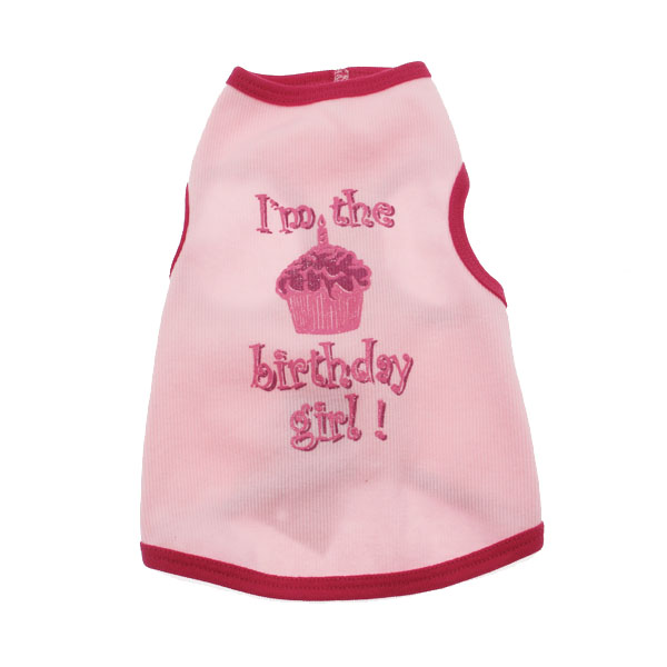 Birthday Girl Dog Tank Top - Pink