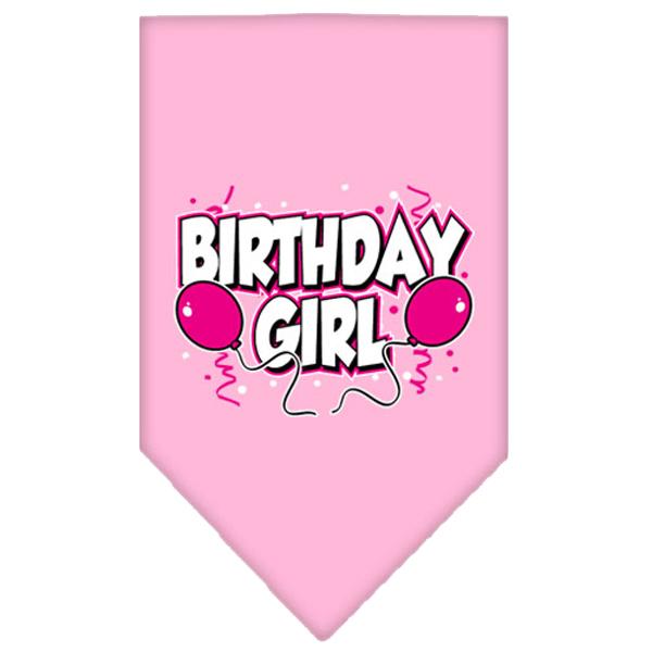 Birthday Girl Screen Print Dog Bandana - Light Pink