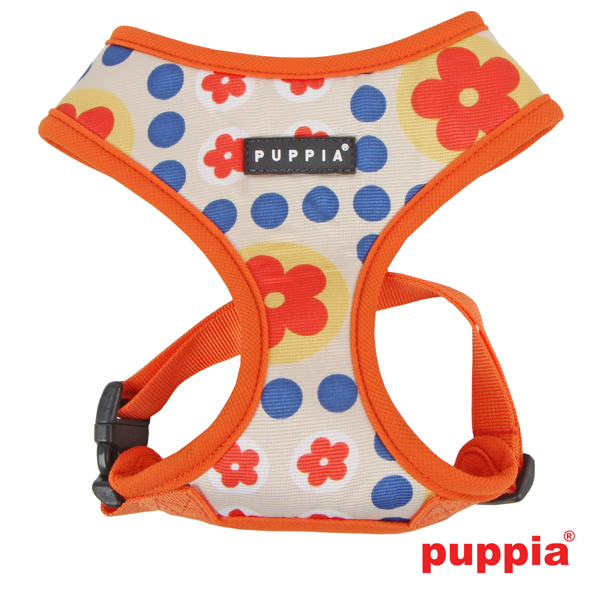 Blossom Dog Harness by Puppia - Orange