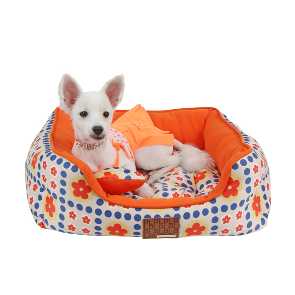 Blossom House Dog Bed by Puppia - Orange
