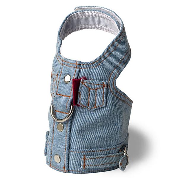 Blue Jean Jacket Denim Vest Harness by Doggles