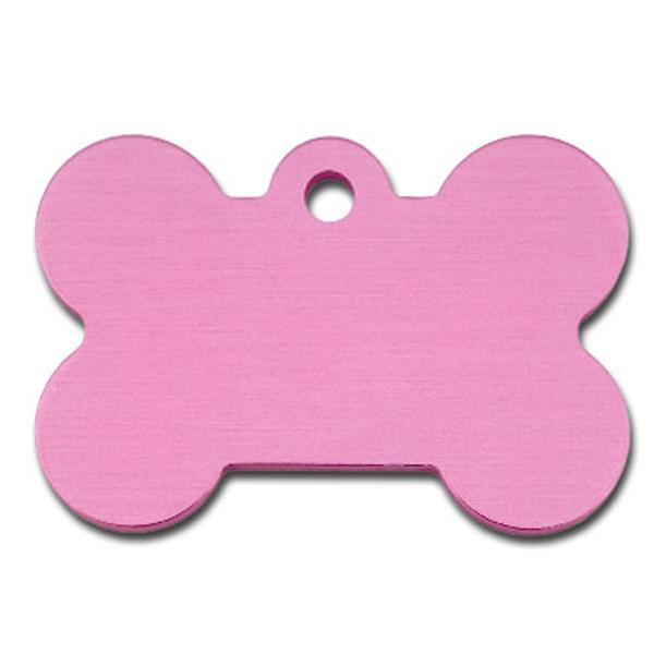 Bone Large Engravable Pet I.D. Tag - Light Pink