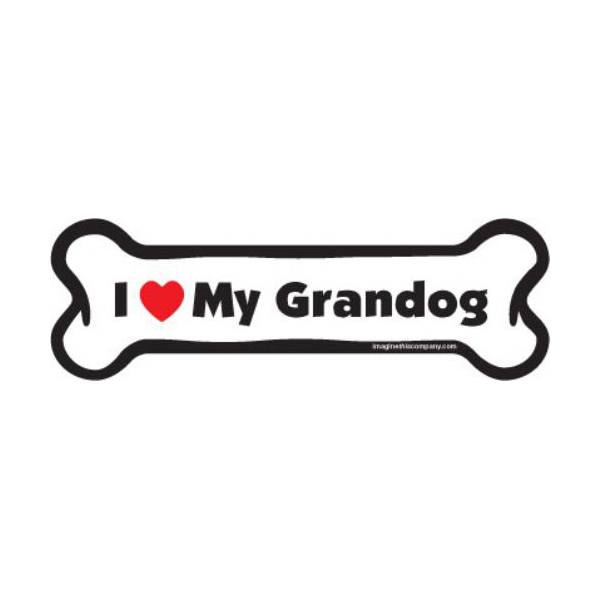 Bone Magnet - I Love My Grandog